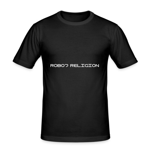 Robot Religion Text - Men's Slim Fit T-Shirt