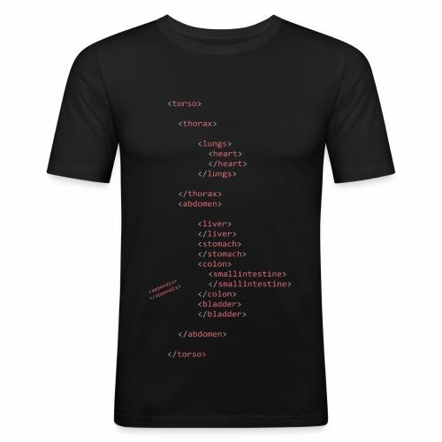 HTML Oberkörper - Männer Slim Fit T-Shirt