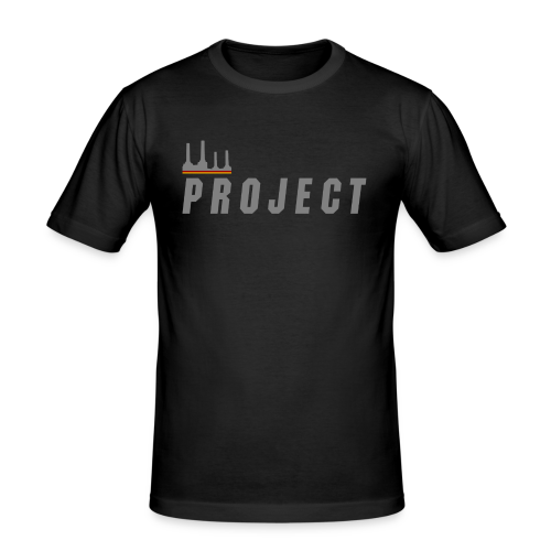 The Project, silver - Men's Slim Fit T-Shirt
