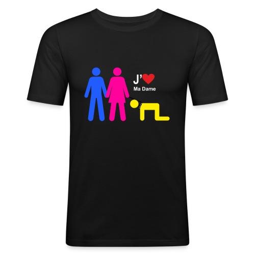 j aime ma dame - Tee shirt près du corps Homme