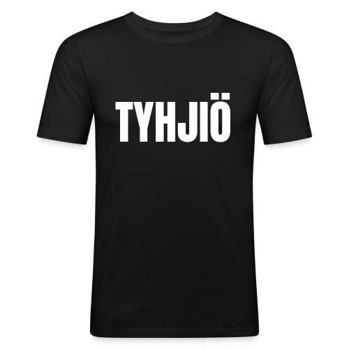 TYHJIÖ Logo White - Men's Slim Fit T-Shirt