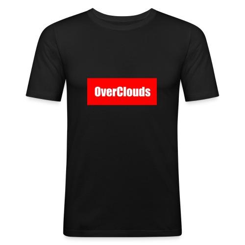 OverClouds Box Logo - Maglietta aderente da uomo