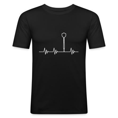 Puls Herzschlag Dart - Männer Slim Fit T-Shirt
