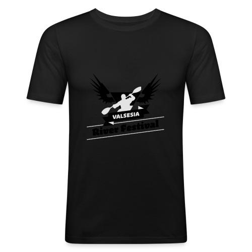Black Silver logo - Men's Slim Fit T-Shirt
