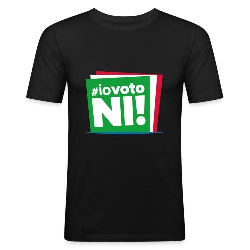 #IoVotoNI! - Maglietta aderente da uomo