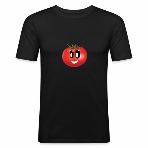 Lachende Tomate - Männer Slim Fit T-Shirt