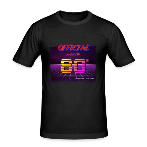 Official product of the 80's clothing - Men's Slim Fit T-Shirt