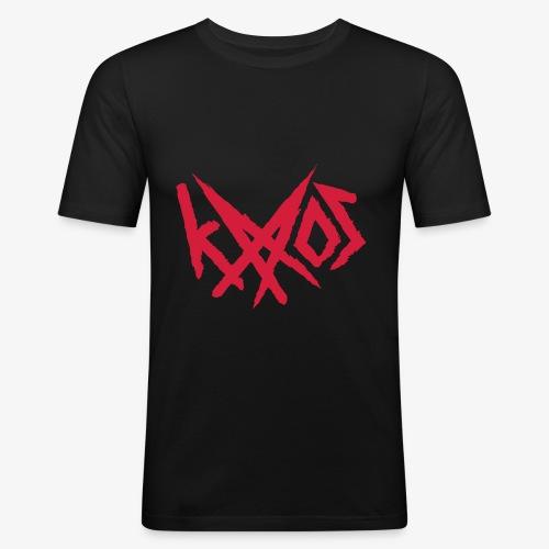 Logo - Miesten tyköistuva t-paita