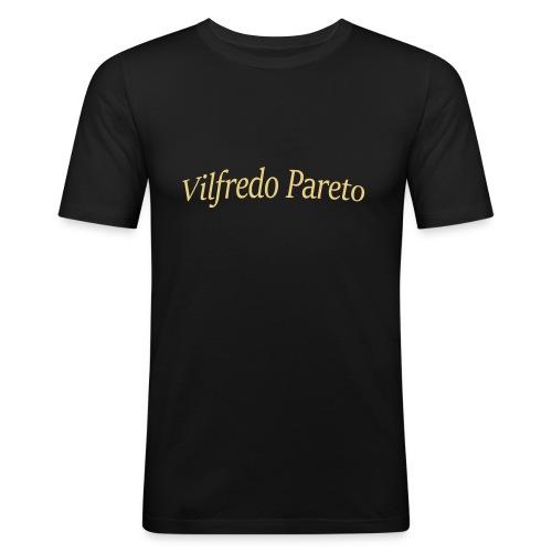 Vilfredo Pareto - Männer Slim Fit T-Shirt