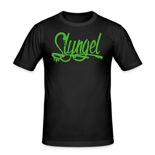 gr nn - Slim Fit T-skjorte for menn
