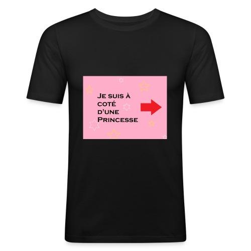 T - shirt voisin d'une princesse - T-shirt près du corps Homme