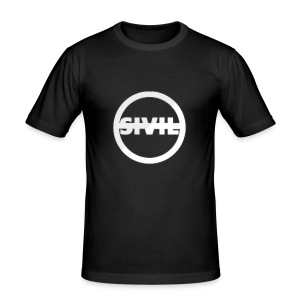 sivil logo - Men's Slim Fit T-Shirt