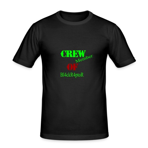 Crew_member_OF_BL4ckR4ptoRR - Männer Slim Fit T-Shirt