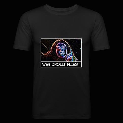 Wer drollt fliegt - Drachenlord - Männer Slim Fit T-Shirt