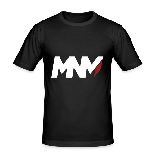 MNM With RED WHITE Corner - Men's Slim Fit T-Shirt