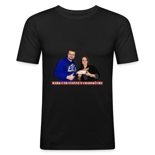 Mark und Yvonne Chaoskueche Logo - Männer Slim Fit T-Shirt