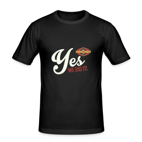 YES-creme-nappo - Männer Slim Fit T-Shirt