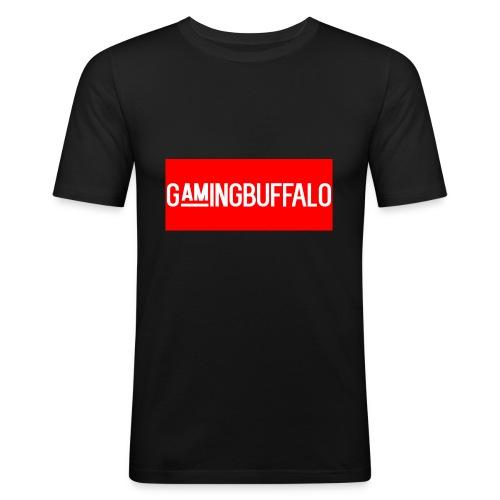 Long Logo RED - Men's Slim Fit T-Shirt