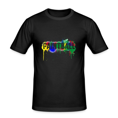 color_paintball - Männer Slim Fit T-Shirt
