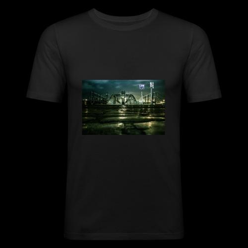 Hamburger Fischmarkt - Männer Slim Fit T-Shirt
