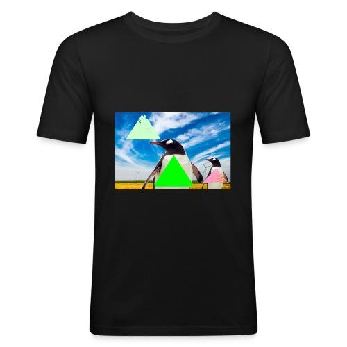 ultra_mega_h--ftig_pingvin_med_yolo_man_swag - Slim Fit T-shirt herr