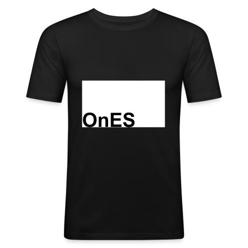 OnES Markenlogo 2 - Männer Slim Fit T-Shirt