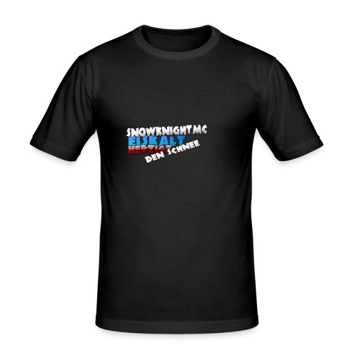 SnowKnightMC_Merch_Logo - Männer Slim Fit T-Shirt