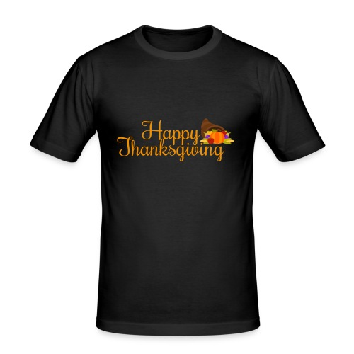 Happy Thanksgiving Words - Men's Slim Fit T-Shirt