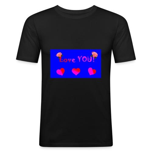 LOVE YOU - Men's Slim Fit T-Shirt
