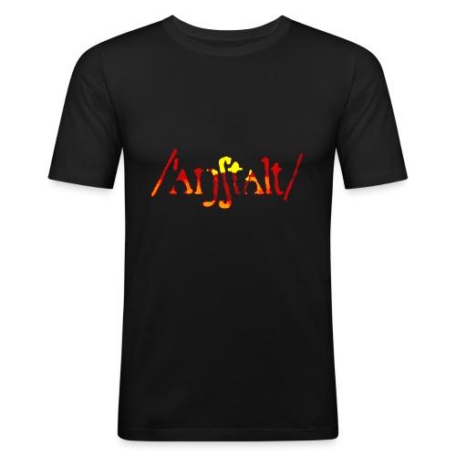 logo gerastert (flamme) - Männer Slim Fit T-Shirt