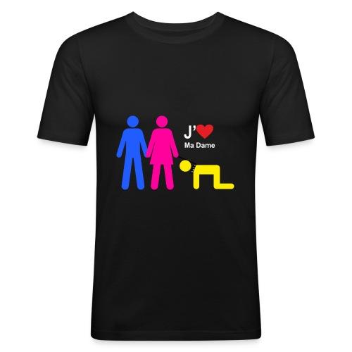 j aime ma dame - T-shirt près du corps Homme