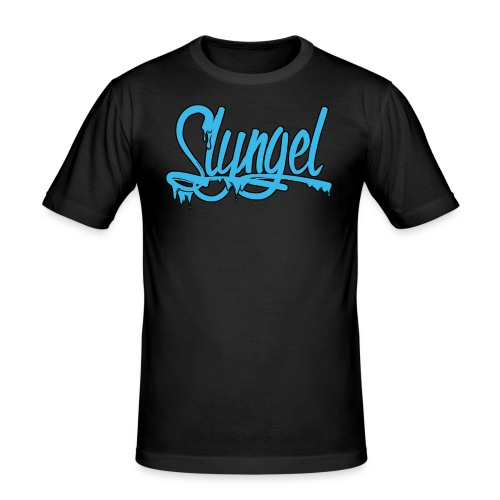 lysebla - Slim Fit T-skjorte for menn