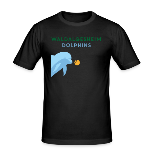 Dolphin Plays - Männer Slim Fit T-Shirt