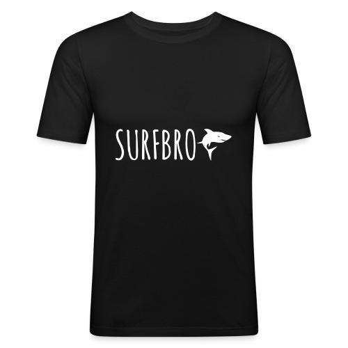 SURFBRO Shark Play - Männer Slim Fit T-Shirt