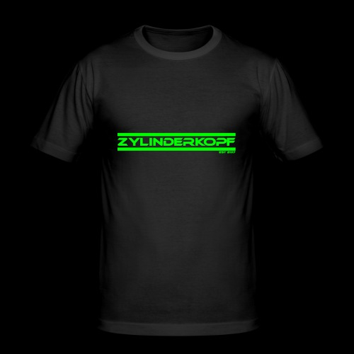 Zylinderkopf classic green Edition - Männer Slim Fit T-Shirt