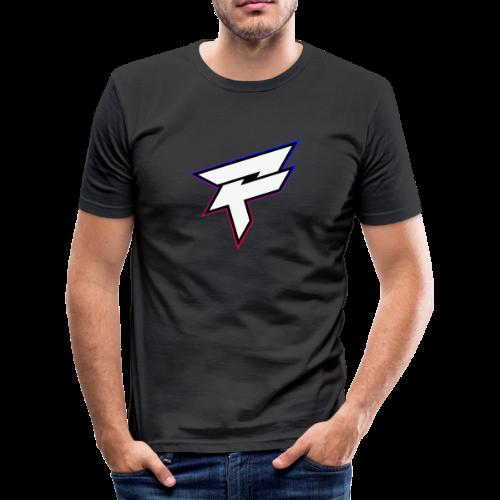Pozyh Logo - Männer Slim Fit T-Shirt