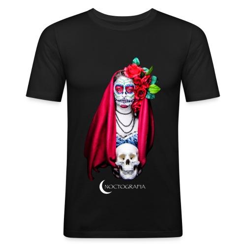 Noctografia Catrina Calavera - Camiseta ajustada hombre
