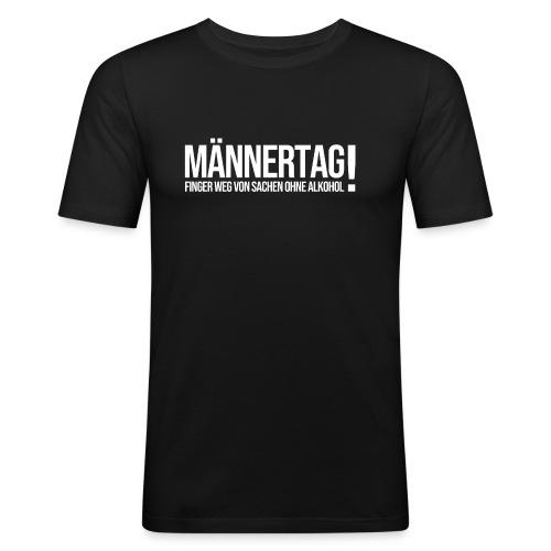 Männertag mit Alkohol - Männer Slim Fit T-Shirt