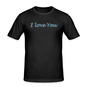 i love you T-shirt - Tee shirt près du corps Homme