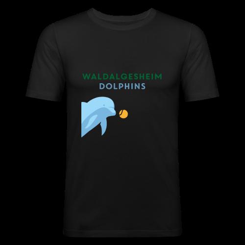 Dolphin Plays - Männer Slim Fit T-Shirt