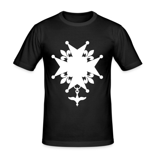 Huguenot_cross - T-shirt près du corps Homme