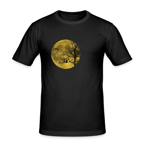 Vollmond Eule - Männer Slim Fit T-Shirt