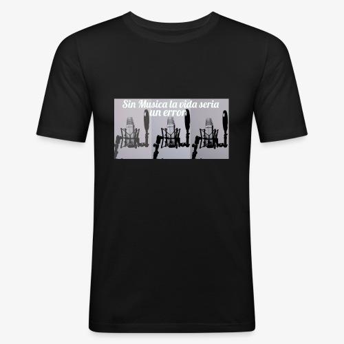La vida sin musica - Camiseta ajustada hombre