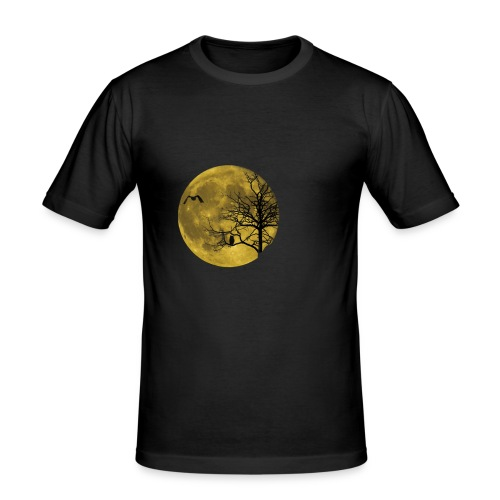 Vollmond Eule - Männer Slim Fit T-Shirt