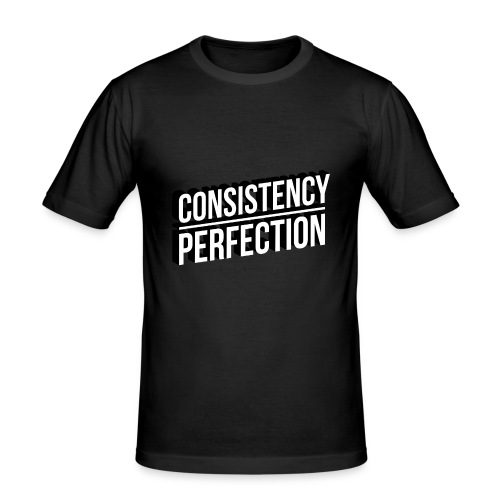 Consistency Over Perfection - Men's Slim Fit T-Shirt