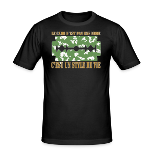 camolife3 - Tee shirt près du corps Homme
