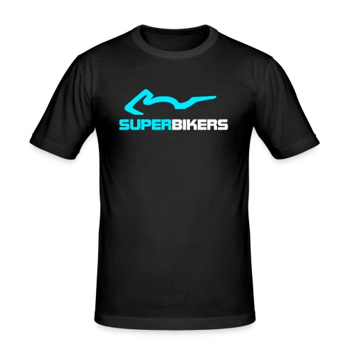 SUPERBIKERS - Blue Edition - Männer Slim Fit T-Shirt
