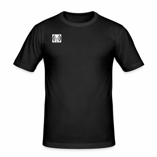 ILikeRadio Logo - Männer Slim Fit T-Shirt