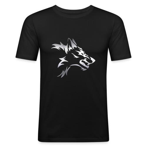 Kizo1991 Silver Wolf - Men's Slim Fit T-Shirt