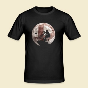 Radball | Moon - Männer Slim Fit T-Shirt